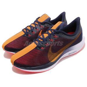 c088b554c04 Nike Zoom Pegasus 35 Turbo Blackened Blue Orange Peel Men Running ...