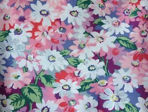 Details about Cath Kidston, Painted Daisies Dark, 100% Laminated Cotton  fabric per metre