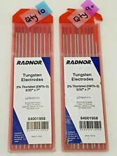 "Praxair ProStar 3//32/"" x 7/"" Tungsten Electrodes PRS403327G-3 Pure Qty 3 FREE SHIP"