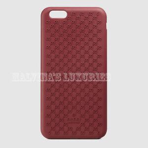 the best attitude 2d0e7 540bc Details about GUCCI iPHONE 6 PLUS CASE COVER RED BIO-PLASTIC GG GUCCISSIMA  LOGO