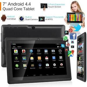 7 pulgadas Android Tablet 8GB cuatro núcleos 4.4 doble cámara Bluetooth WIFI de la tableta UK