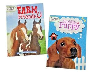 Farm-Animals-amp-Puppies-Kids-Coloring-Book-Activity-Books-Cuddly-Puppy-Barn-Set