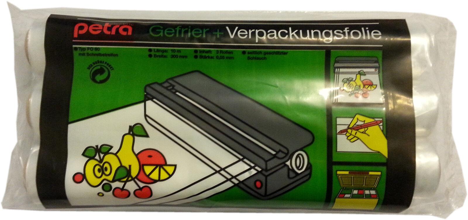 Petra - 30cmx30m Papel de Congelar embalaje Folio para Congelar de film transparente 2f9e62