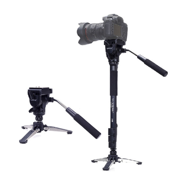 YUNTENG 288 three Feet Support Monopod with Fluid Pan Head for DSLR Camera DV