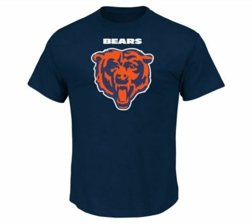 NFL Chicago Bears Majestic Men's Critical Victory II T-Shirt - SIZE XL Navy