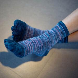 Men-039-s-Casual-Five-Fingers-Toe-Socks-Respirant-Retro-Couleur-Chaussettes