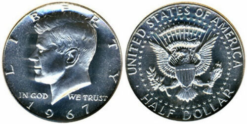 1967 Kennedy Half Dollar Gem Bu from SMS set