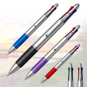 2 x Vierfarbkugels<wbr/>chreiber in 4 Farben rot schwarz blau und grün Kugelschreiber