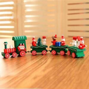 Newest Little Train Decoration Wooden Train Decor Christmas Ornaments Dm Ebay