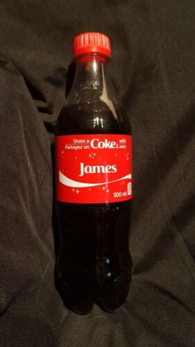 Details about  /SHARE A COKE WITH JAMES CANADA EXCLUSIVE CHRISTMAS EDITION 2018