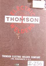 Thomson 244 Series Seam Shell Welder Parts Schematics Amp Wiring Manual 1952