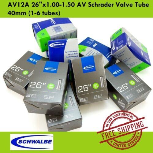 "1-6 tubes Schwalbe AV12A 26/""x1.00-1.50 AV Schrader Valve Tube 40mm MTB Bicycle"