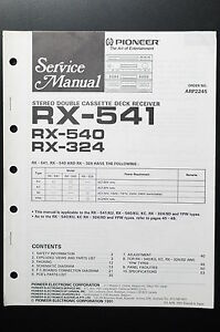 Pioneer    RX   541540324 Original Service    Manual   Guide
