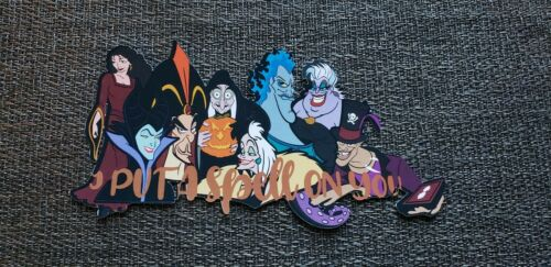 Disney page title I put a spell on  you Disney  Halloween villain printed title