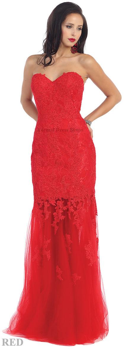 Oferta  Elástico Ajustado Encaje  Largo Vestido Noche Formal Concurso Sweet 16  ordene ahora los precios más bajos