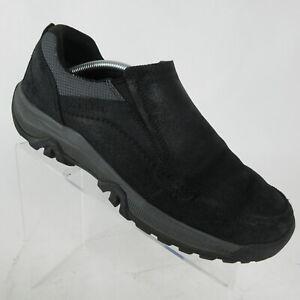 Merrell-Anvik-Moc-Men-039-s-Slip-On-Casual-Walking-Shoes-Black-J95159W-Size-10-W