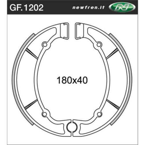 Rear Brake Shoes Fit YAMAHA IT400 1977 1978 1979 S4S