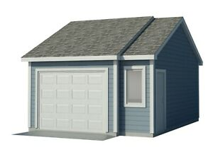 Car-Garage-Plans-DIY-Backyard-Workshop-Shed-Building-16-039-x-22-039-Build-Your-Own