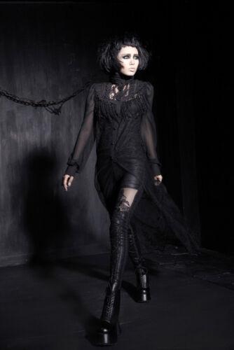 Pantalon leggings gothique lolita baroque glam dentelle cuir lingerie PunkRave
