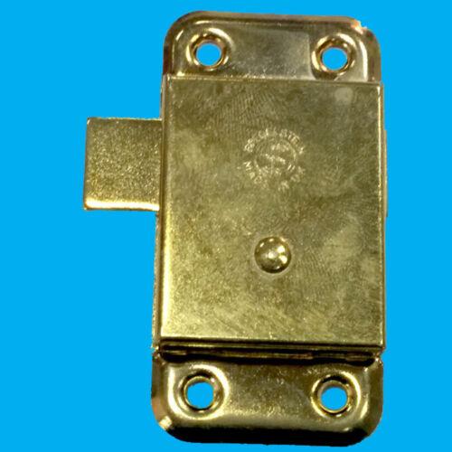 "2x 3/"" Inch Brass Door Lock /& Key For Wardrobe Cupboard Cabinet Desk Drawer"