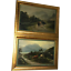 Pair-Fine-Antique-Pastoral-Oil-Paintings-19th-Century-Scottish-Highlands-Cattle thumbnail 1