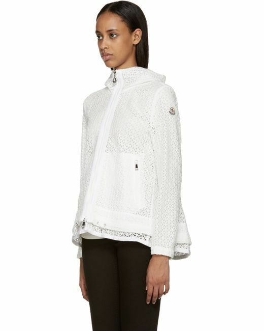 NEW  1025 Moncler Women's Rombu Light bluee Eyelet Short Coat - 2