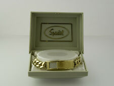 SPEIDEL (2553)  MEN'S GOLD-TONE INITIAL/ID BRACELET - NOS in ORIGINAL CASE