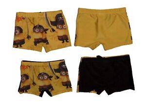 Minions-Badehose-Badeshort-Kinder-Jungen-Gelb-und-Schwarz-NEU-E1-21