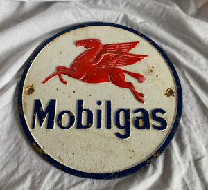 Old Original Antique Mobilgas Sign