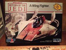A-WING Fighter MODEL ERTL mpc VINTAGE STAR WARS POTF AWING COMPLETE NIB ROTJ HTF