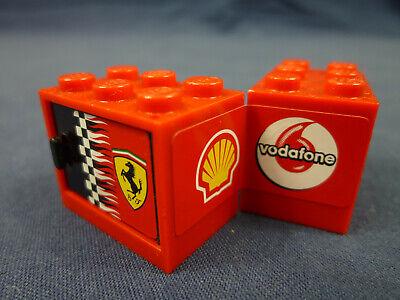 2 x Lego System Schrank Gehäuse orange 2x3x2 Tür Kiste Kiste Box Cupboard 4532