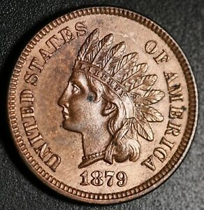 1879-INDIAN-HEAD-CENT-BU-UNC-With-A-TOUCH-OF-MINT-LUSTER