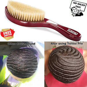 Details about Torino Pro Wave Brush #490 by King Medium Curve Made with  100% Boar Bristles All