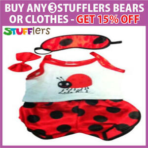 LADYBIRD-PJS-pajamas-Clothing-by-Stufflers-Fits-Medium-40cm-Plush-Toy
