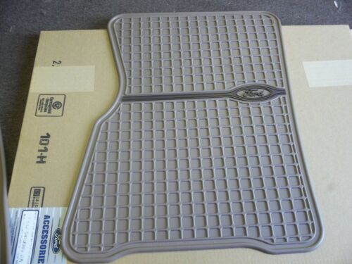 NEW OEM FORD TAN VINYL FRONT FLOOR MATS FRONT PAIR 1960 1999 GALAXIE CROWN VIC