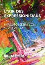 Lyrik des Expressionismus 37 by S. Vietta (1976, Paperback)