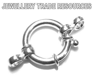 16mm STERLING SILVER 925 JUMBO BOLT RING JEWELLERY MAKING CATCH CLASP