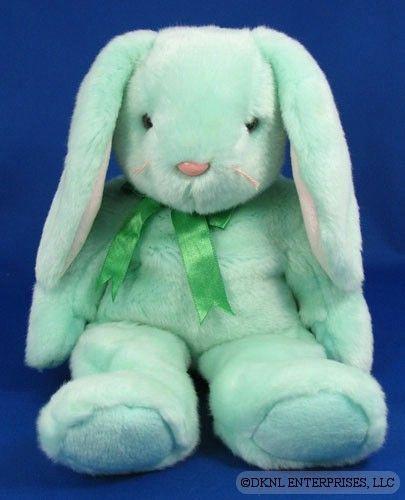 TY HIPPITY Beanie Buddy 1998 Green Rabbit w//o Tag Ret