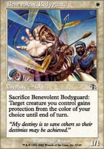 4x Benevolent Bodyguard MTG Judgment NM Magic Regular