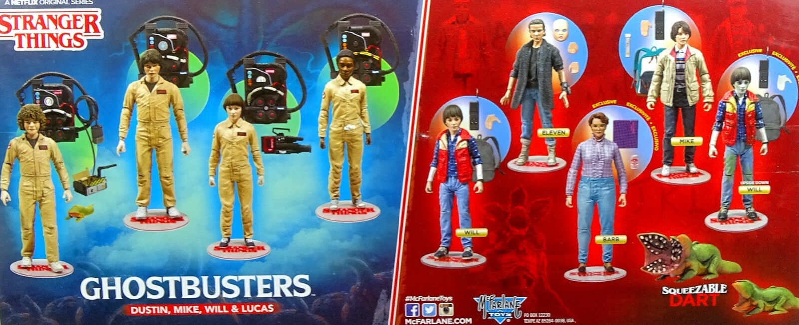 Stranger Things Dustin, Mike, Will & & & Lucas come GHOSTBUSTERS 6 McFarlane Toys 4b3a01
