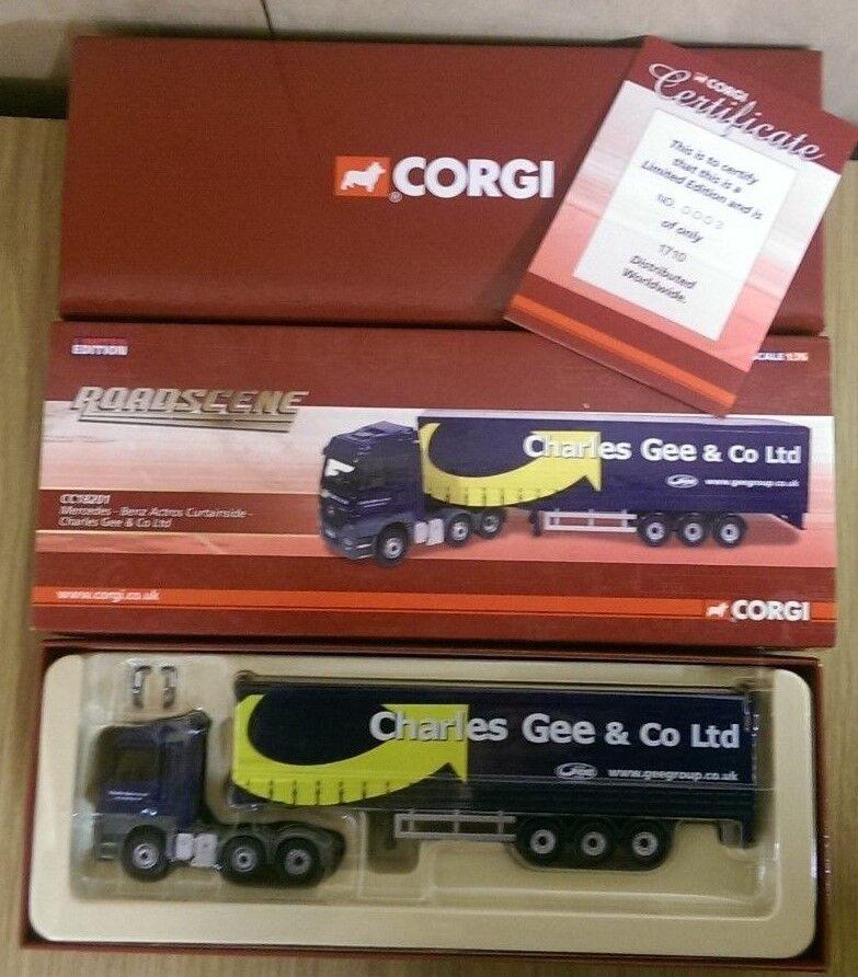 Corgi CC18201 Mercedes Actros Curtainside Charles Gee & Co Ltd Ed 0003 of 1710