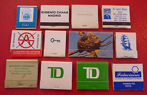 Rare-Vintage-Match-Book-Lot-of-12-Canadian-Banks-Insurance-Brokers
