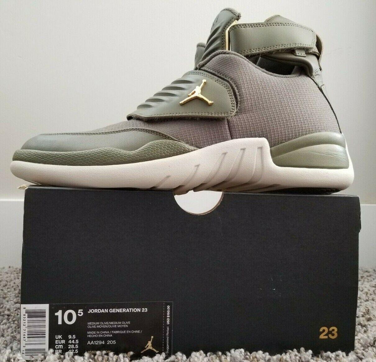 Nike Air Jordan Generation 23 Basketball shoes Olive Green AA1294-205 Men's 10.5