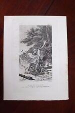 ✒ 1882 Eau-forte de Paul AVRIL Moncrif UZANNE - Alidor et Thersandre