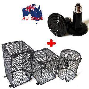 Heat Lamp Light Bulb Amp Mesh Cage Protector Guard Set Enclosure Reptile Chicken Ebay