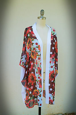 NWT One Size CLOVER CANYON COVER UP SUNFLOWER DREAMS Swim Resort