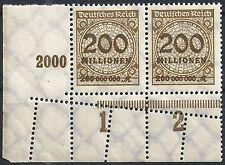 Korbdeckel MiNr. 323APb mit Doppelzähnung im Unterrand und KURZBEFUND Weinbuch