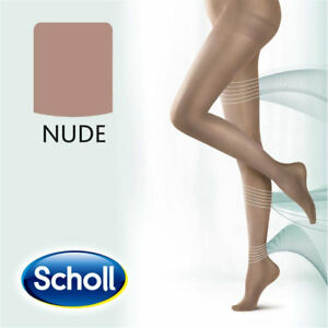 Scholl Light Legs Compression Tights 20 Den NUDE Prevent tired /& achy legs NEW
