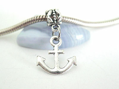 LOVELY LARGE SILVER ANCHOR CLIP ON CHARM FOR BRACELETS TIBETIAN SILVER NEW