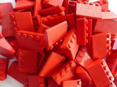 LEGO 50 Dächer rot Dachelemente Schrägsteine positiv 33 Grad 3x4 Haus Creator